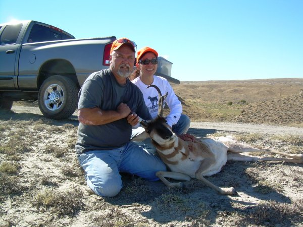 Ron and Sandy with their Antelope