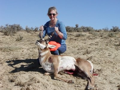 Carol with my Antelope