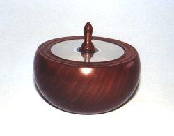 Walnut Vessel with CD Lid